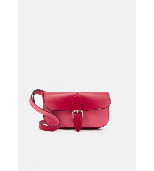 Red V POUCH - Clutch - cherry/fancy pink/red